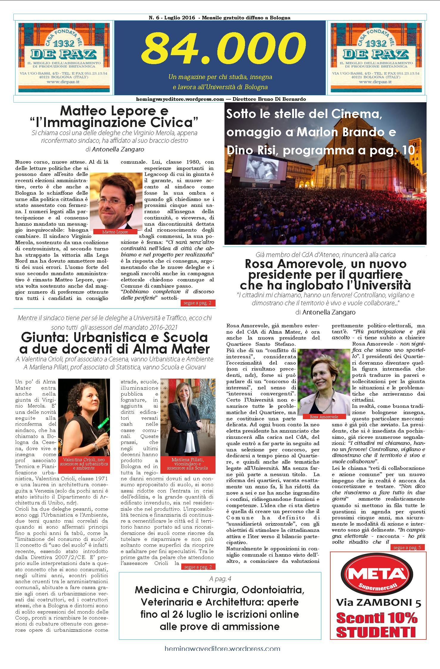 N.6_Luglio 2016_PrimaPagina